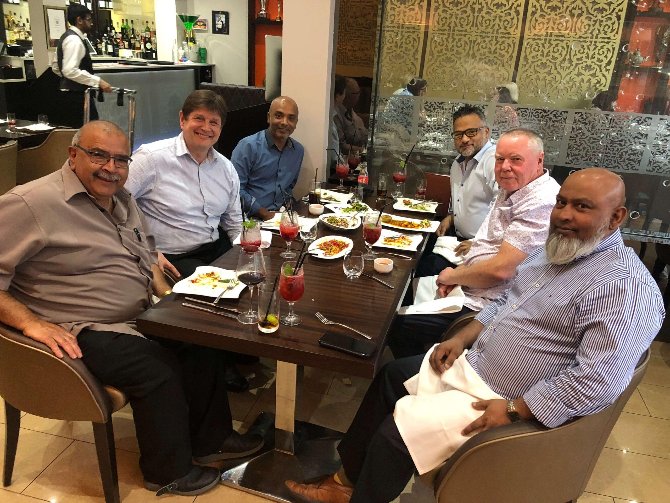 UKCC Executive Team Meeting at the Bayleaf Restaurant