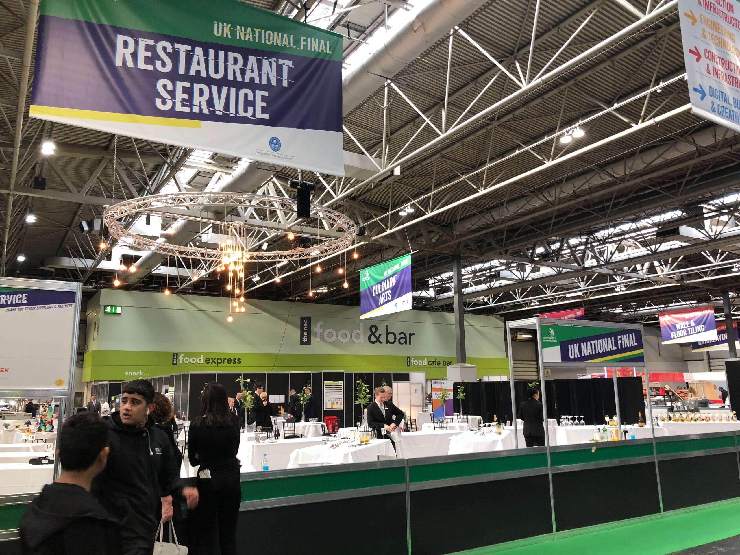 UKCC Mystery Basket Chef Competition at WorldSkills UK 2018, held at the NEC Birmingham