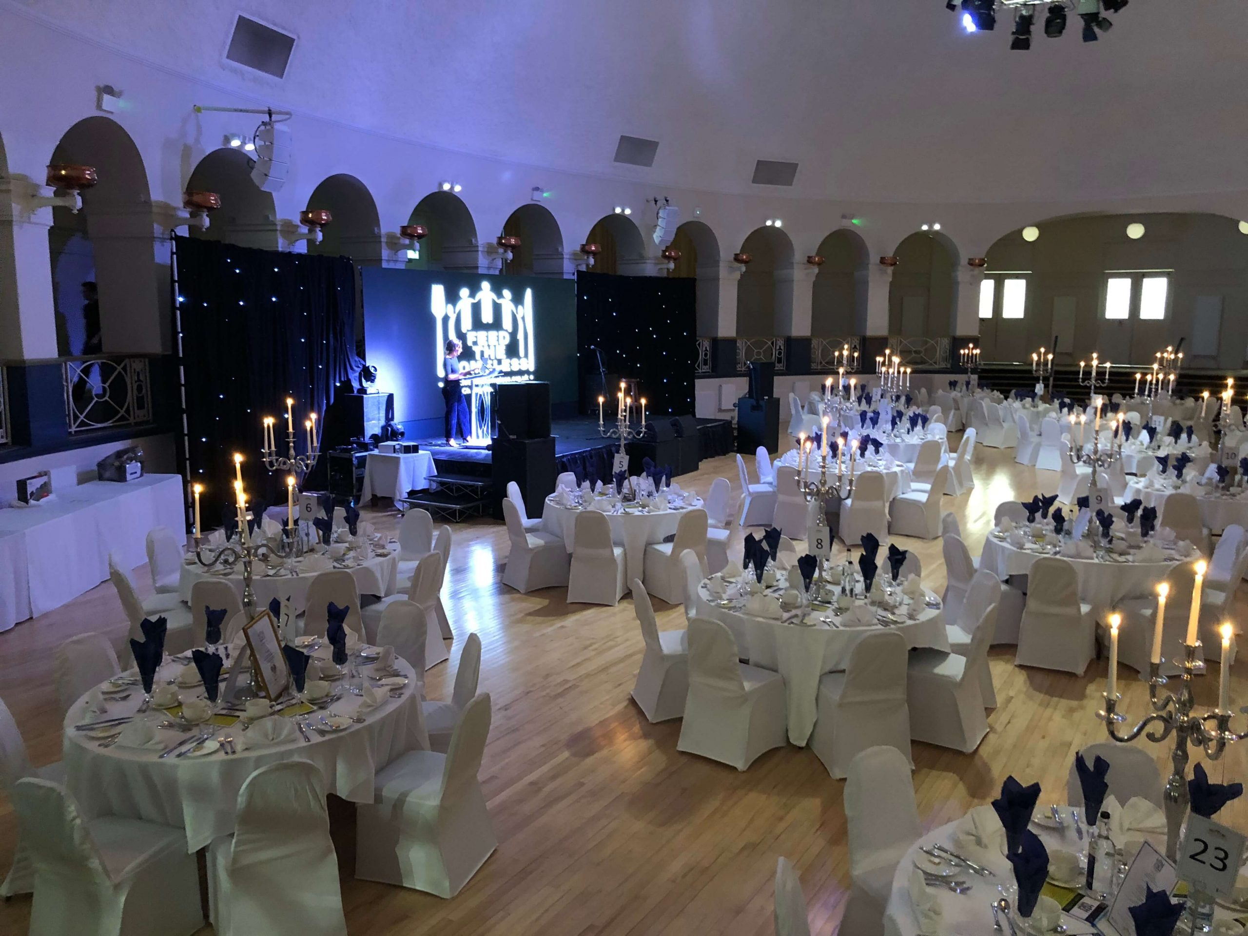 UKCC Event Managing & Catering for the Feed The Homeless Charity Gala Dinner